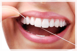 Regular flossing contributes to healthy gums